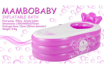 MamboBaby Inflatable Bath Tub - Pink