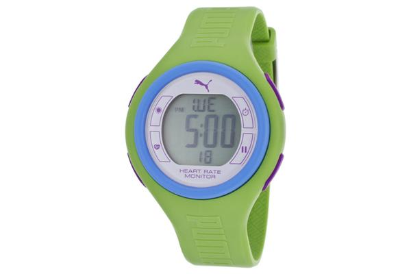 Puma Pulse Heart Rate Monitor Multi-Function Digital Green Rubber (PUMA-PU910541014)
