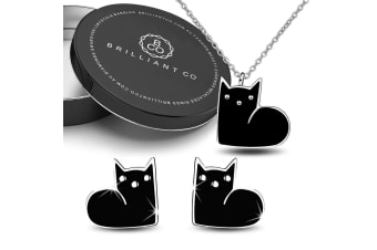 Boxed MewMew Necklace and Earrings Set