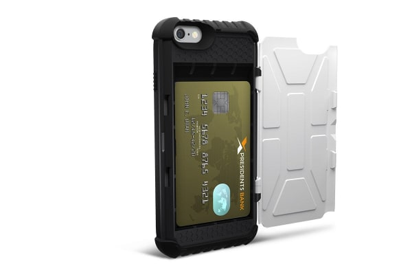 UAG Military Standard Trooper Card Case for iPhone 6 Plus/6s Plus (White)