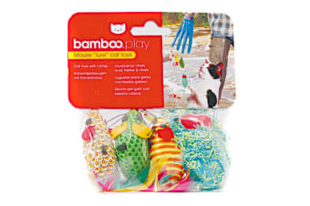 Munchkin Bamboo Catfisher Mouse Toy Replacement Pack (Multicoloured) (One Size)