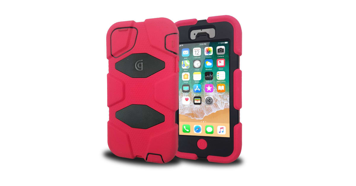 san francisco 147f9 306f5 Griffin Armoured Survivor Military Case Protection iPhone 5/5S/5SE -  Black/Pink | Carrying Cases