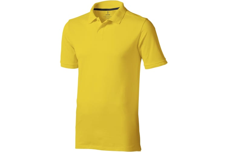 Elevate Mens Calgary Short Sleeve Polo (Pack of 2) (Yellow) (XXXL)
