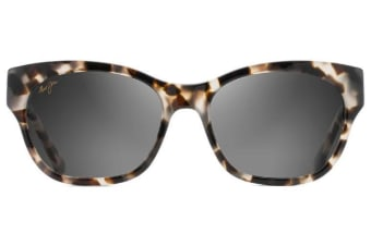 Maui Jim Monstera Leaf GS747-05T White Tokyo with 24K White Gold Womens Sunglasses