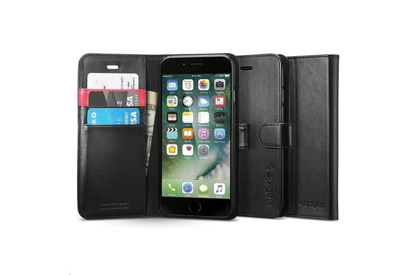 Spigen iPhone 7 Wallet Case, Black