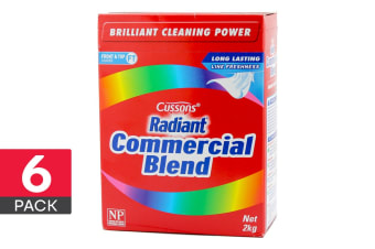 6- Pack Radiant Commercial Blend Front & Top Loader Laundry Powder 2kg
