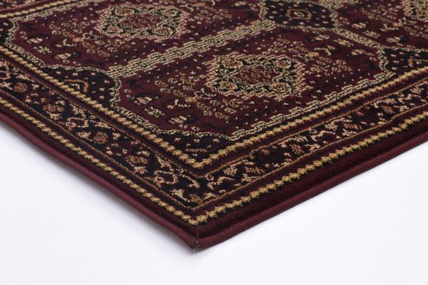 Traditional Afghan Design Rug Burgundy Red 500x80cm