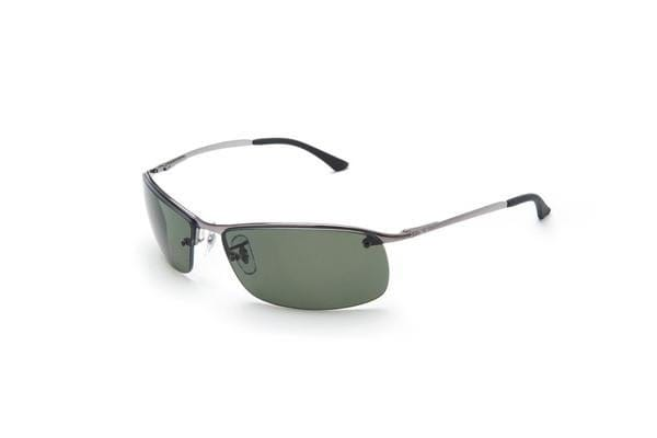 640916d361f ... clearance ray ban rb3183 top bar silver green polarised lens mens  sunglasses fa491 fd862