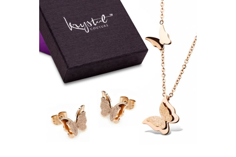 Butterfly Aura Necklace And Earrings Set