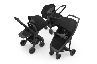 Greentom 3-in-1 Combo Stroller - Black