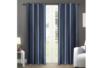 Single Panel Blockout Curtains Panels Bluish Grey 180x230cm
