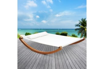 Timber Swinging Bed Outdoor Furniture Hammock Bed Wooden Stand