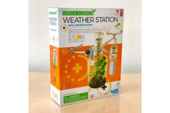 Kids DIY Weather Station Terrarium Kit | 4M Kids Green Science