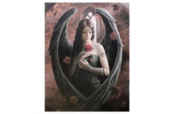 Anne Stokes Angel Rose Canvas (Multicoloured) (Small)