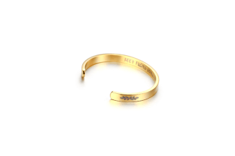 Inspirational Stainless Steel Gifts For Women Bracelet Cuff Bangle - Gold Gold