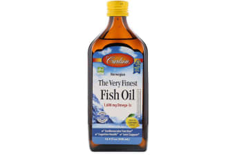 Carlson Labs Norwegian - The Very Finest Fish Oil Natural Lemon Flavour - 1,600mg 500ml