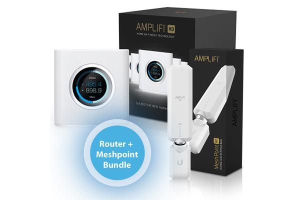Ubiquiti Amplifi  Amplifi Router & 1x Mesh Point Bundle Pack – Medium Size Home Or Office – 1,200 Sqm Coverage