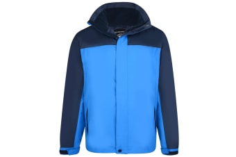Kam Jeanswear Mens Contrast Waterproof Jacket (Navy)