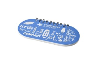 Desk-mate Capsule Notebook (Frosted Blue/Solid Black)