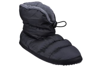 Cotswold Mens Camping Bootie Slippers (Black) (Small)