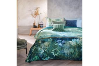 Nymph Blue Green Quilt Cover Set Queen