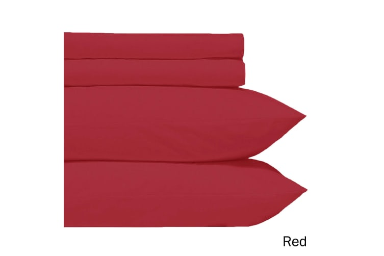 Microfiber Sheet Set Red Double