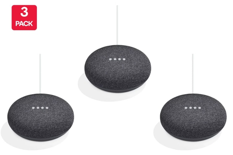 Google Home Mini (Charcoal) - Australian Model - 3 Pack