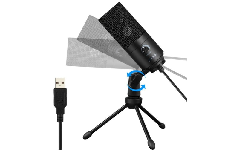 Fifine Technology Condenser Broadcast/Podcast Microphone f/ Streaming/Recording