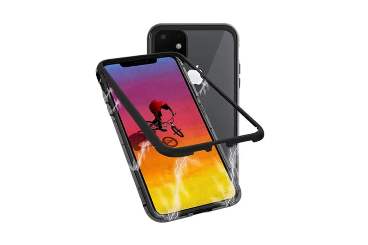 Cygnett Ozone Magnetic 9H Double Tempered Glass Case for iPhone 11 - Black (CY2934OZOMG)