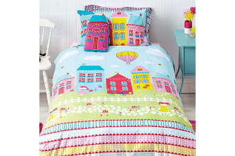Cubby House Reversible Lovely Lane Quilt Cover Set Double