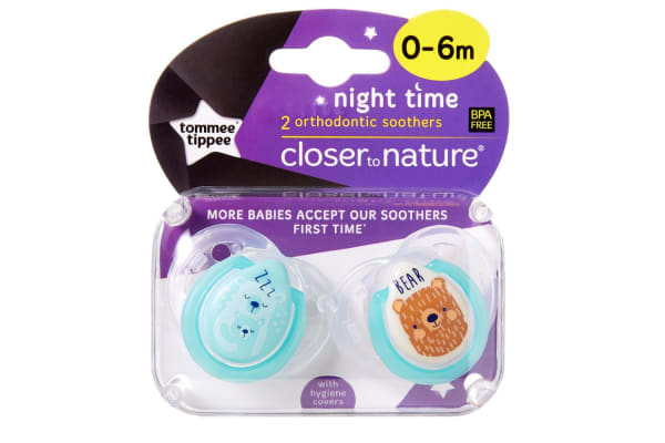 ee5238eb7a78 Tommee Tippee Night Soother 2 Pack - Boy - 0 to 6 Months - Kogan.com