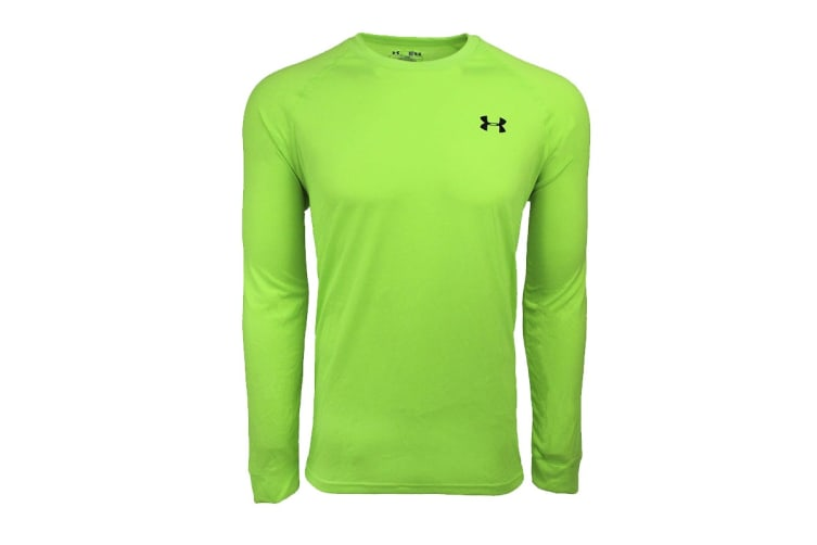 Under Armour Men's Tech L/S Tee (Hyper Green/Black, Size M)