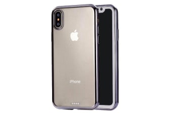For iPhone XS Max Cover Ultrathin Electroplated Slim Protective Phone Case Black
