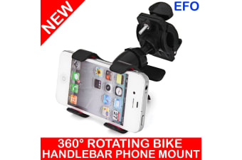 Bicycle Bike Handlebar Mount Phone Holder 360° Rotating For Iphone Samsung Htc