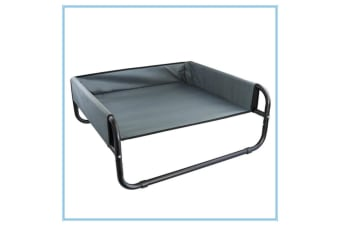 Bed Elevated Pet Dog Cot Outdoor Indoor Large Raised Frame Steel Walled 85 cm D