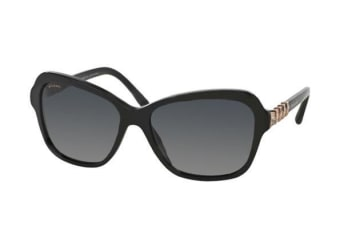 Bvlgari BV8142B 501 T3 Shiny Black Womens Sunglasses Polarised