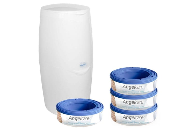 Angelcare Baby Nappy/Diaper Disposal System w/4 Cassettes/Bin/Trash/Air Seal/Bag