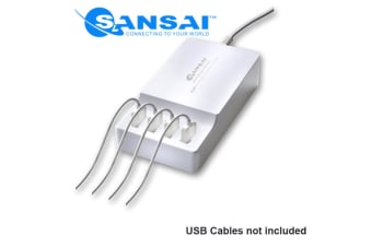 Sansai 4 Port USB Charger Charging Station Hub 4.2A for Iphone Galaxy Ipad