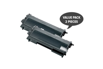 TN-155Bk Black Premium Generic Toner (Two Pack)