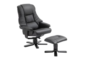 Luxdream Home Office Recliner Chair PU Leather Armchair Lounge Sofa Couch Ottoman Footrest