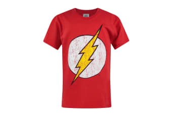 Flash Official Boys Distressed Logo T-Shirt (Red)