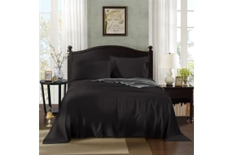 Royal Comfort 100% Bamboo Cotton 4 Piece Bedding Sheet Set Mega Queen - Graphite