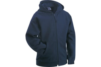 James and Nicholson Childrens/Kids Hooded Jacket (Navy) (XL)