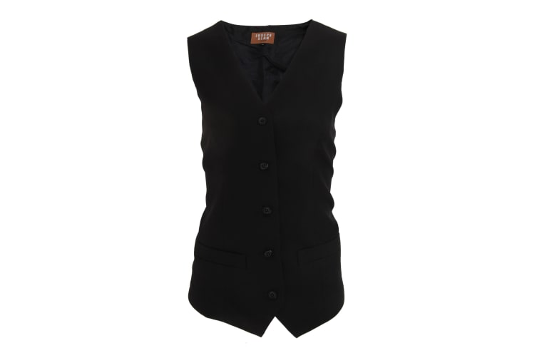 Jospeh Alan Womens/Ladies Long Length Waistcoat (Black) (20)