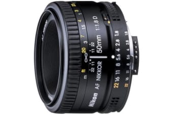 New Nikon AF NIKKOR 50mm f/1.8D Lens (FREE DELIVERY + 1 YEAR AU WARRANTY)