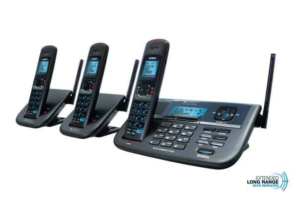 Uniden XDECT Repeater Series Extended Digital Technology Cordless Phone System (3 Phones)