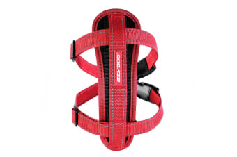 Ezydog Small Red Chest Plate Dog Harness (37cm to 60cm) Ezy Dog