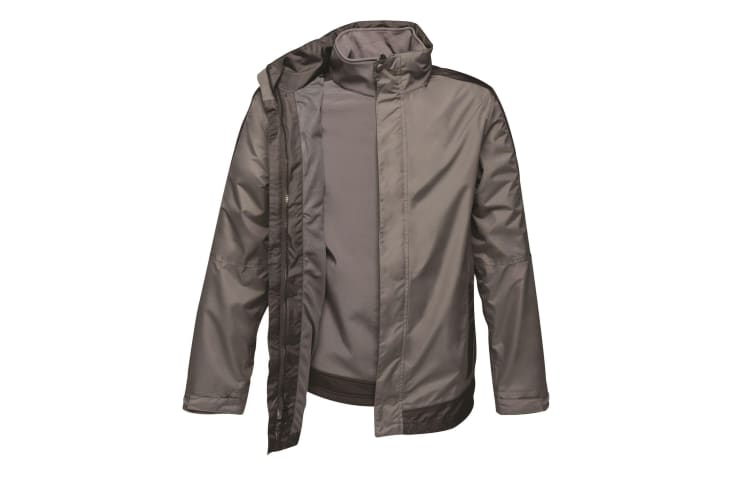 Regatta Mens Contrast 3 In 1 Jacket (Seal Grey/Black) (3XL)