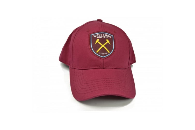 West Ham FC Official Football Baseball Cap (Burgundy) (One Size)