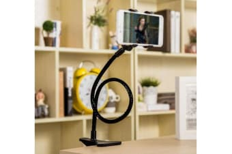 "360? Rotating 3.5 - 5""  Tablet Pc Phone Mount Holder Durable Metal Gooseneck"